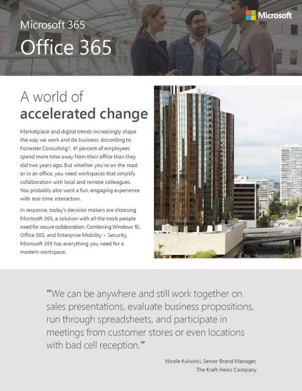 Microsoft 365 Office Flyer