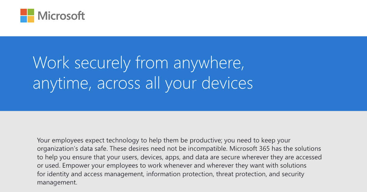 Work securely across all devices